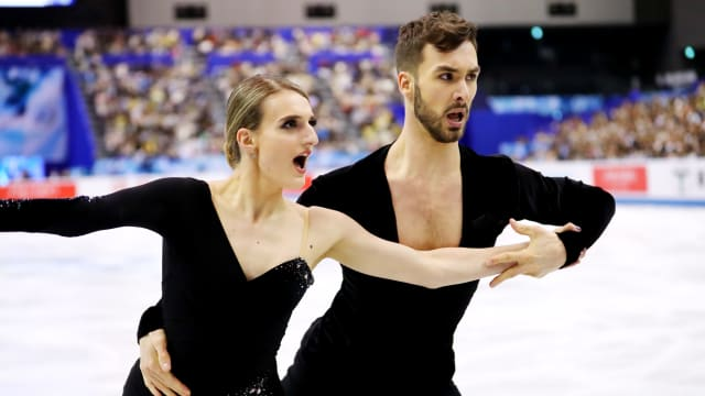 World ice dance champions Gabriella Papadakis and Guillaume Cizeron win World Team Trophy rhythm dance