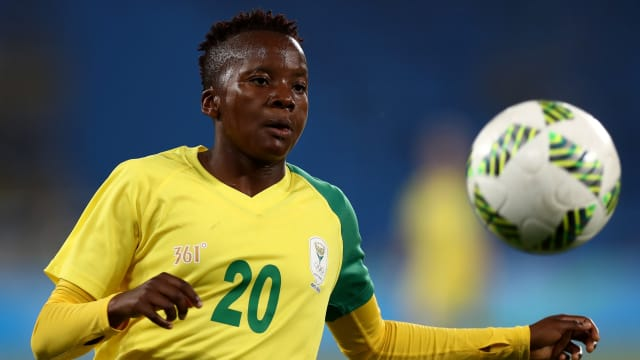 Thembi Kgatlana playing for South Africa at Rio 2016