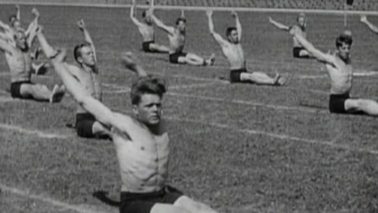 How Olympic gymnastics used to be