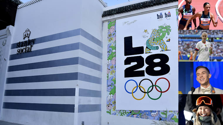 Athletes, celebrities, artists: check out the LA28 logo creators!
