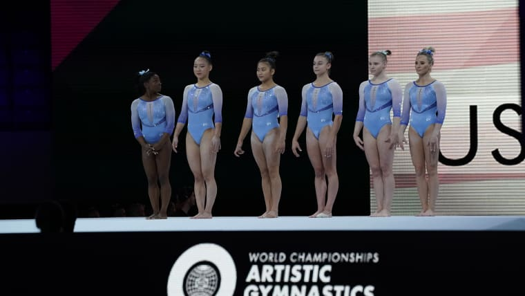 Team USA introductions during qualification at the 2019 World Championships (Photo: Olympic Channel)