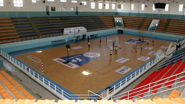 The Salle El Bouazzaoui volleyball arena.