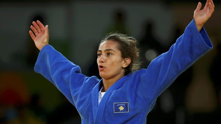 Majlinda Kelmendi at Rio 2016
