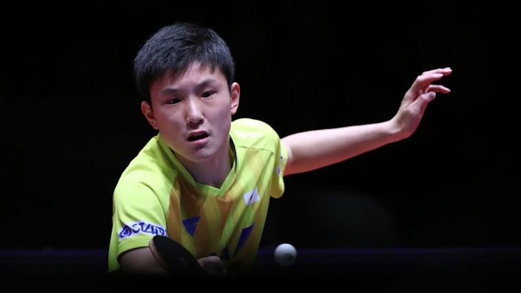 男子シングルスで初戦敗退、混合ダブルスで準決勝進出を決めた張本智和(画像は2018年のワールドツアーグランドファイナル)