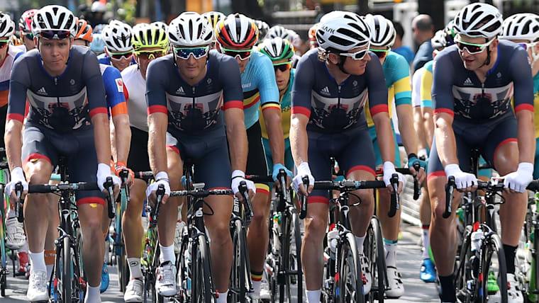 リオ五輪でのイギリスチームは、左端のクリス・フルームをエースとして支えた