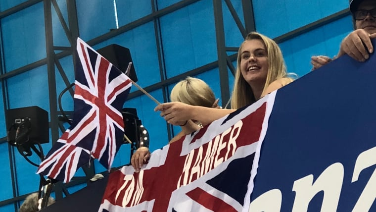 British fans ready to watch magic happen.