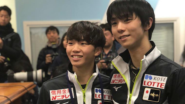 Yuzuru Hanyu and Kazuki Tomono