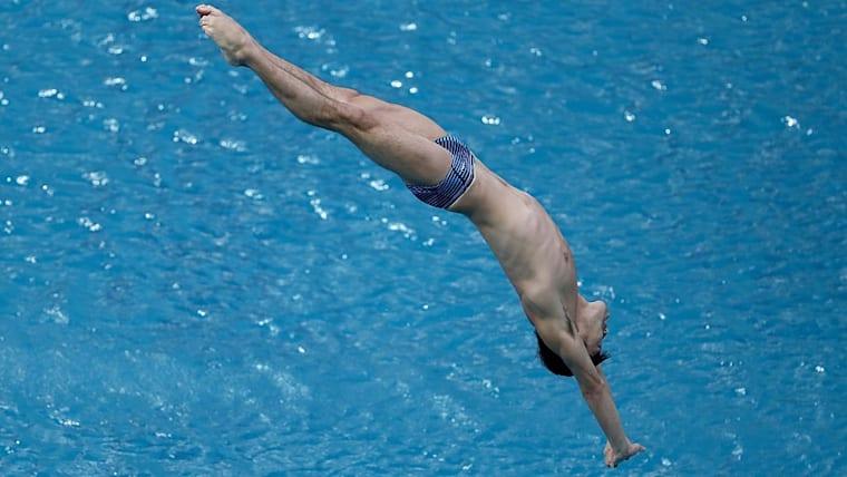 FINA/CNSGダイビングワールドシリーズ北京2日目。3メートル板飛び込みの準決勝に出場した坂井丞(ミキハウス)は、決勝進出ならず(写真はリオ五輪のもの)