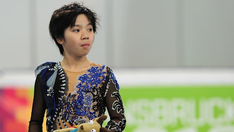 2012年、14歳の時の写真。インスブルックで行われれたユースオリンピックで銀メダルに輝いた