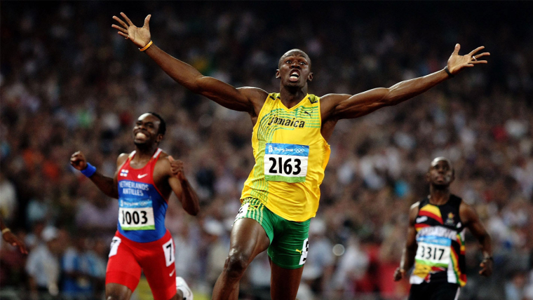 Beijing 2008 - Usain B wins the 200m final and breaks the world record