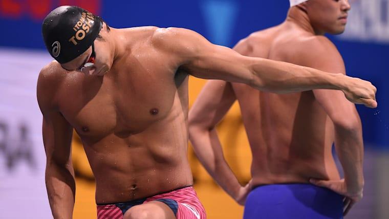 男子競泳選手として183cmは世界的に見れば大きいとはいえないものの、強靭な肉体でトップレベルを維持している