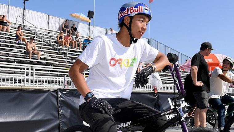 小学生の頃から世界的なBMXライダーとして活躍していた中村輪夢。現在の夢はもちろん東京五輪出場だ
