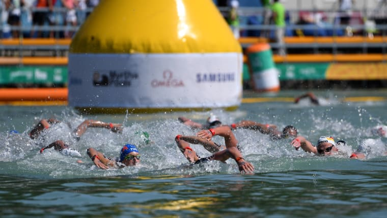 The Men's 10KM Open Water Swimming event at the Budapest 2017 FINA World Championships in Budapest, Hungary.