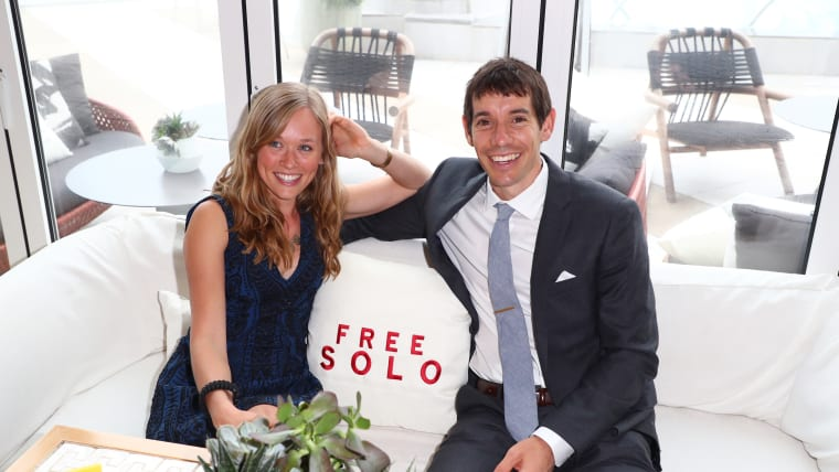 Alex Honnold (right) with girlfriend Sanni McCandless (left)