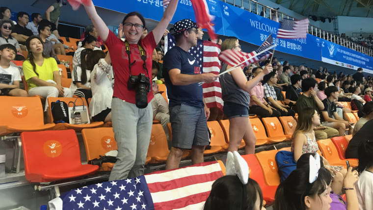 USA fans show some love for their team