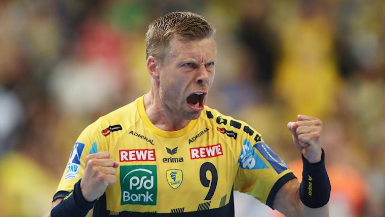 Iceland wing Gudjon Valur Sigurdsson playing for his German club side Rhein-Neckar Loewen