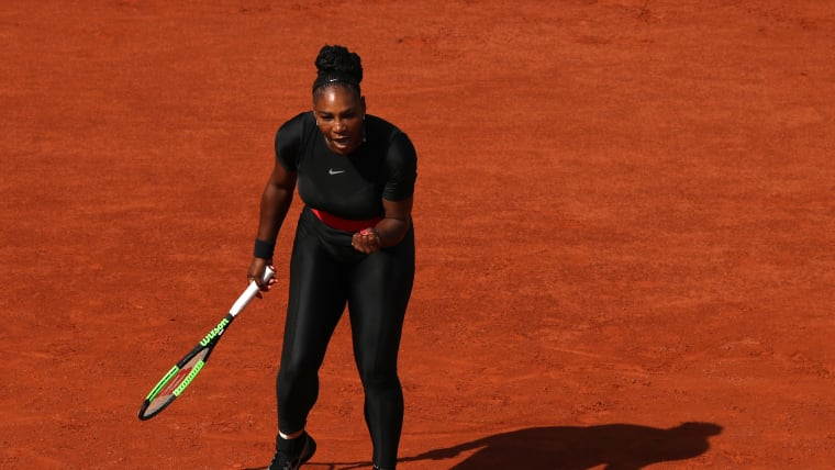 Serena Williams during the 2018 French Open