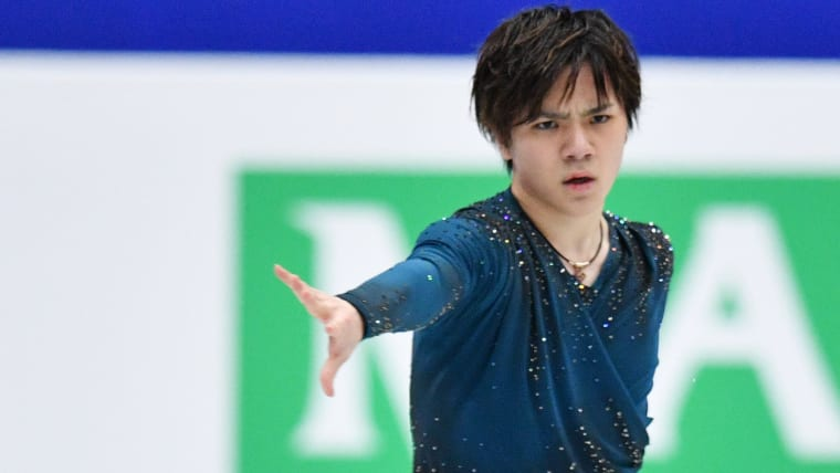 Japan's Shoma Uno took third place for the second day running at the World Team Trophy