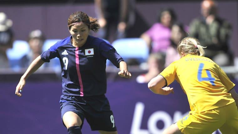 自身初のオリンピック出場となった川澄奈穂美。全6試合でプレーし、銀メダル獲得に大きく貢献している