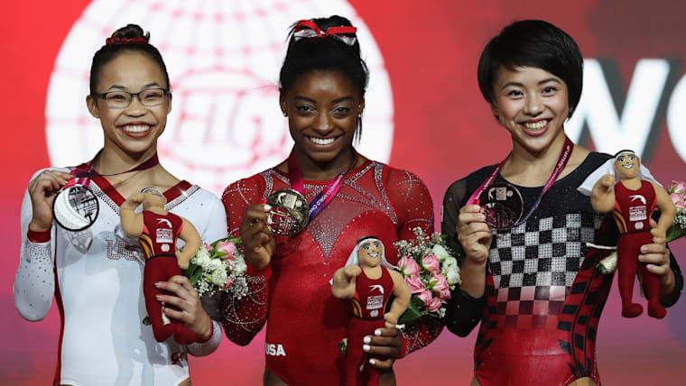 2018年世界体操競技選手権では、種目別ゆかで銅メダルを獲得