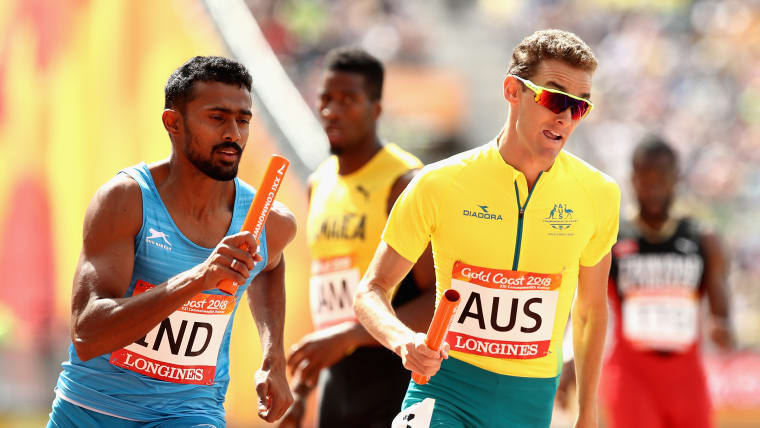 Muhammed Anas (left) has been an integral part of the Indian 4x400m relay team.