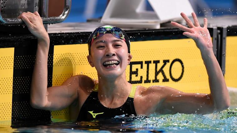 全体6位で女子200メートル個人メドレー決勝へ進出した大橋悠依