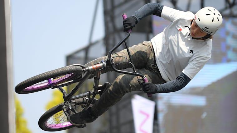 BMXパークの女子の注目株が大池水杜。東京五輪世代として注目される
