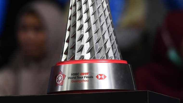 What it's all about: The BWF World Tour Final trophy on show at the 2019 Indonesia Open at Istora Gelora Bung Karno on July 17, in Jakarta, Indonesia. (Photo by Robertus Pudyanto/Getty Images)