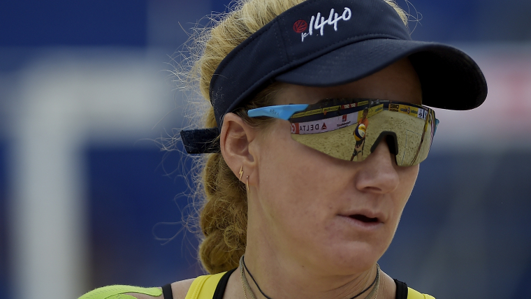 Kerri Walsh Jennings in action at the FIVB Beach Volleyball World Tour Itapema. (Photo by Alexandre Loureiro/Getty Images)