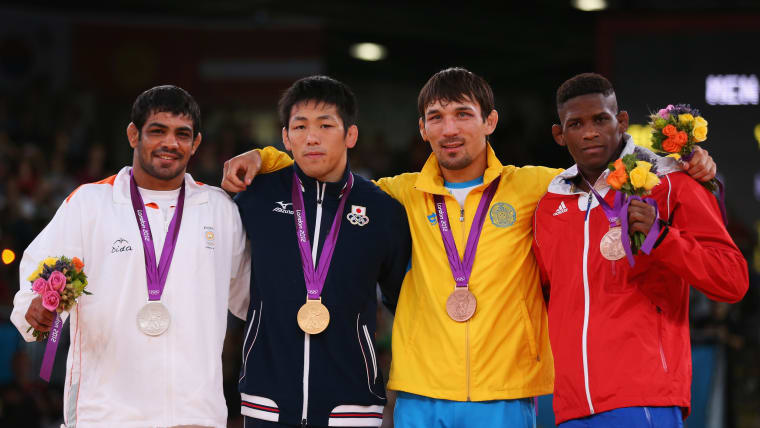 Sushil Kumar became the first Indian wrestler to win back-to-back medals at the Olympics