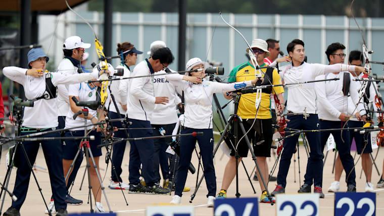 READY STEADY TOKYO Archery Test Event at the Yumenoshima Park Archery Field