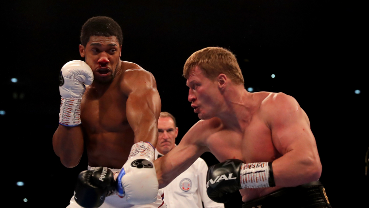 Anthony Joshua overcomes a bloody nose against Alexander Povetkin