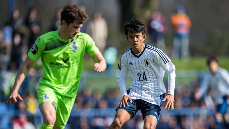 年代別の日本代表チームでは、攻撃面の持ち味をより生かすために前線で起用されることも多い