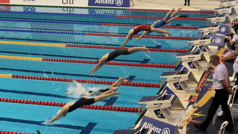 Diving into day one heats. Pic: Olympic Channel