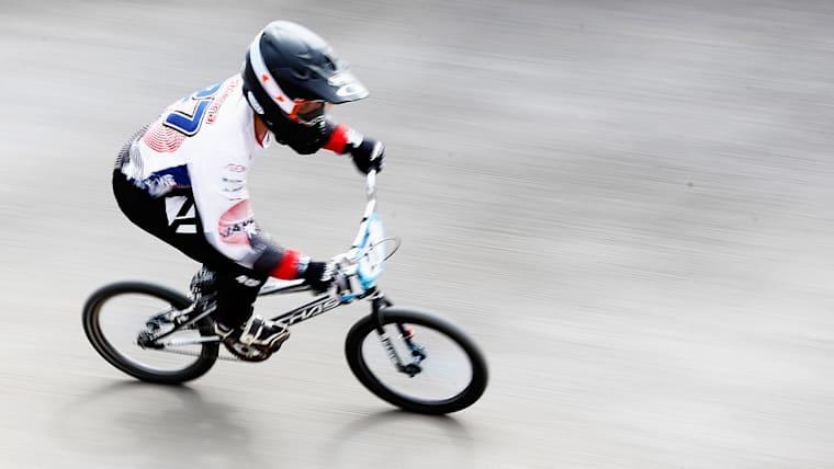 障害コースを高速で走り抜けるBMXレース。吉村樹希敢(じゅきあ)はアジア選手権を制すなど代表に最も近い位置にいる