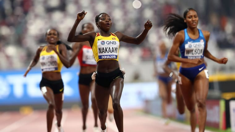 Halimah Nakaayi wins the women's 800m at the 2019 IAAF World Championships