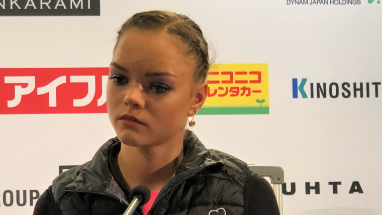 Loena Hendrickx finished third in the short programme at the Grand Prix of Helsinki 2018