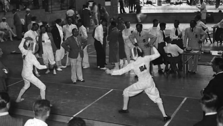 中世ヨーロッパで発展したフェンシングは、第1回大会からオリンピックの競技に採用されている