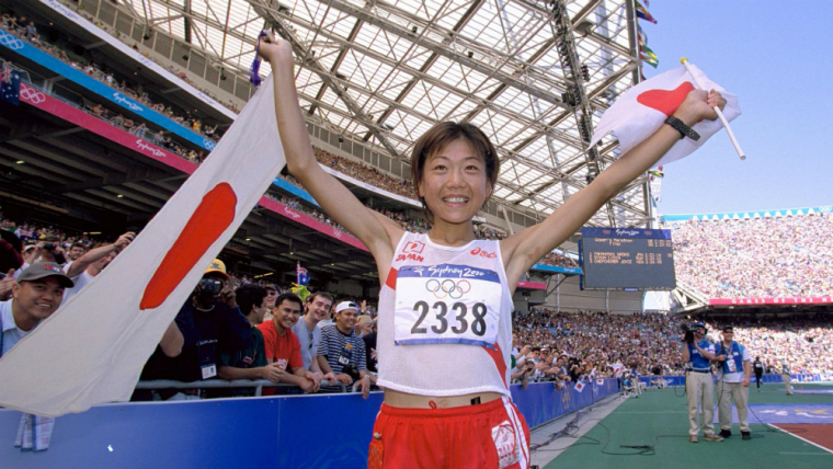 ドニー五輪で金メダルを獲得した高橋尚子は3度の日本記録更新を達成している