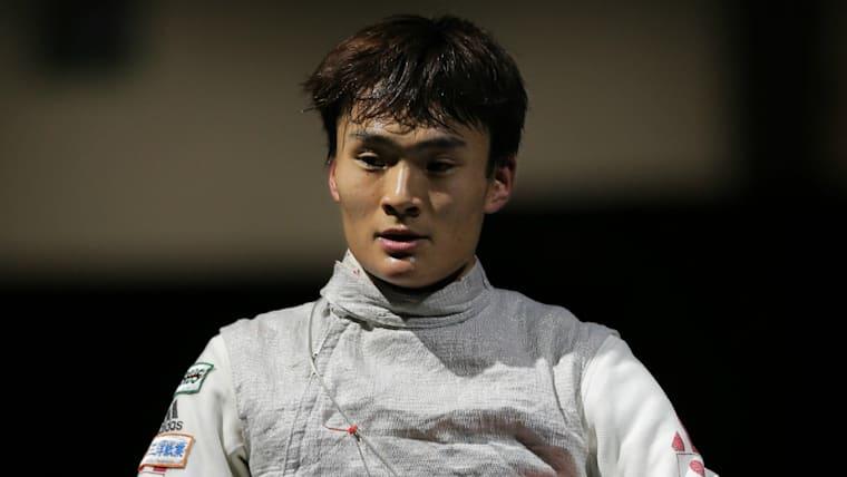 2016年の全日本フェンシング選手権大会で優勝。日本男子フルーレではトップクラスの実力を持つ/時事