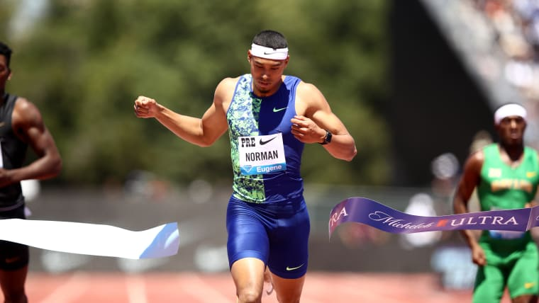 Michael Norman takes the 400m at the 2019 Prefontaine Classic in Stanford