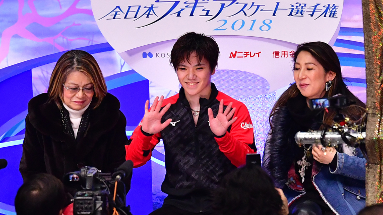 All smiles for Shoma Uno after his short program skate at the Japan Figure Skating Championships