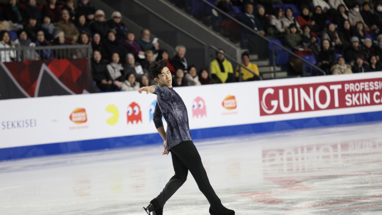 Nathan Chen performs during the free skate at the ISU Grand Prix of Figure Skating Final 2018