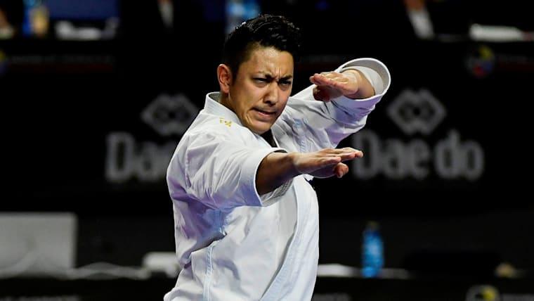 第1戦パリ大会に続いての優勝となった喜友名諒(写真は2018年世界選手権)/AFP=時事
