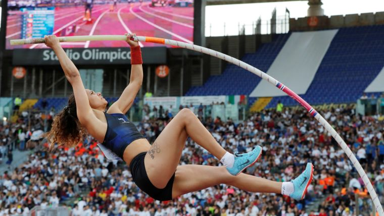 Angelica Bengtsson set a new Swedish record of 4.76m to win the Rome Diamond League pole vault