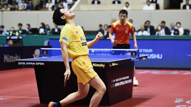 Tomokazu Harimoto beat Jike Zhang 4-3 in the Japan Open final.