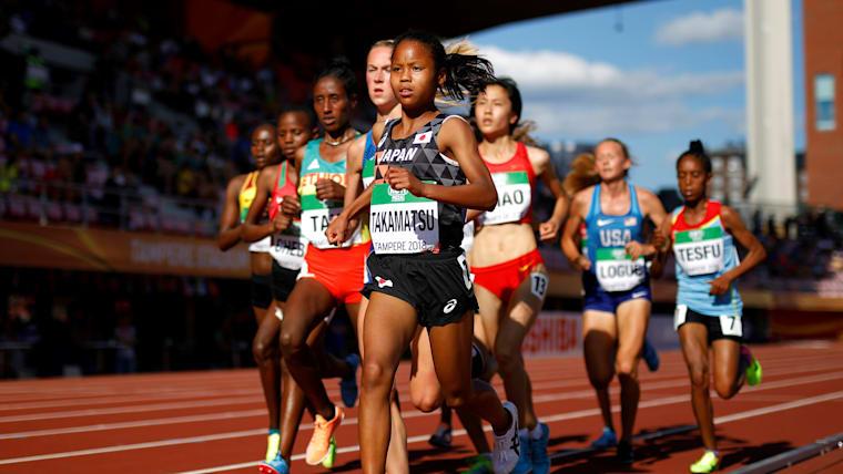 2018年世界U-20陸上選手権女子3000メートルに出場し、7位に入った