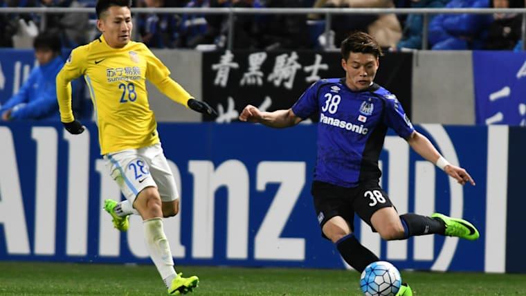 高校2年生の時、G大阪のトップチームに。すぐにAFCチャンピオンズリーグという国際舞台も経験している