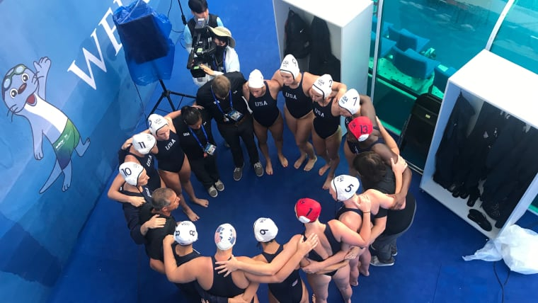 USA team talk