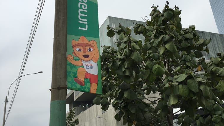 Milco is everywhere on the streets in Lima. Pic: Olympic Channel